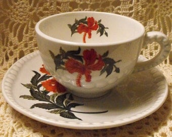 1940 Gray-Lure by Crooksville Tea Cup and Saucer