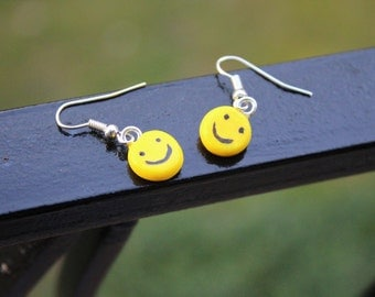 Clay Smiley Face Earrings