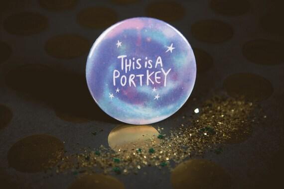 Harry Potter inspired Portkey - 55mm - Badge - Pocket Mirror - Keyring - Magnet