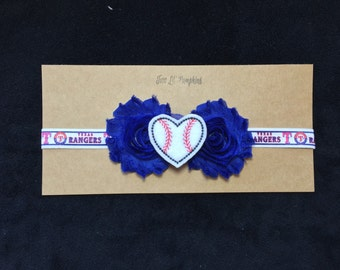Texas Rangers Baseball Inspired Headband - Rangers Baby Girl - Texas Rangers Baby Gift - Rangers Gift - Rangers Headband - Rangers Baby