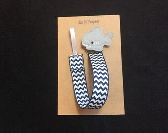 Shark Pacifier Clip, Beach Paci Clip, Ocean Paci Clip, Summer Pacifier Clip, Feltie Paci Clip, Universal, Baby Shower Gift
