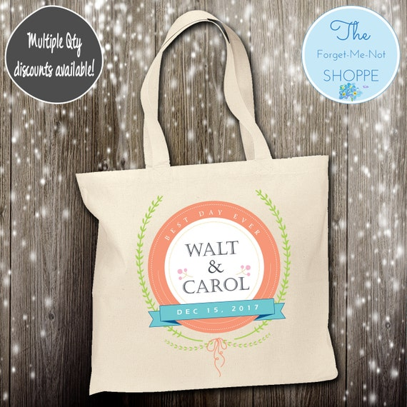 Wedding Day Tote Bag ~ Bride to Be tote bag, Nautical, bachelorette ,Mother,  party tote, Wedding Favor, Gift Tote
