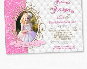 Princess Invitation, Princess Birthday, Princess Birthday Invitation, 1st Birthday Princess Invitation, Princess Birthday Party, Princess