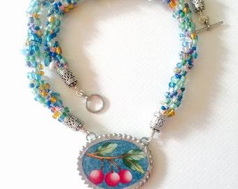 Tutti frutti necklace