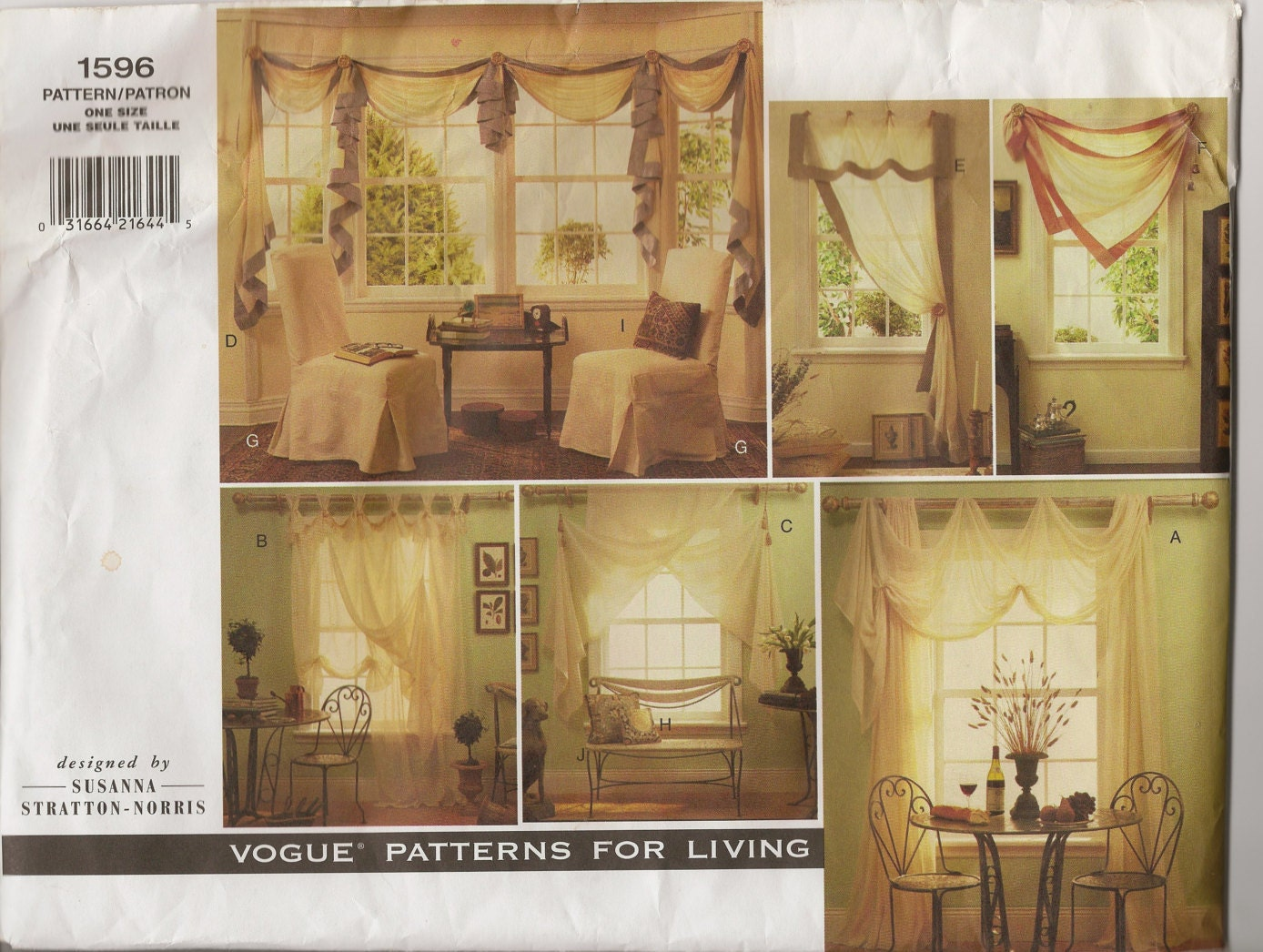 Vogue pattern for window treatments for Professional window treatment patterns