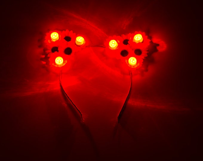 Customizable Red LED Cat Ear Headband