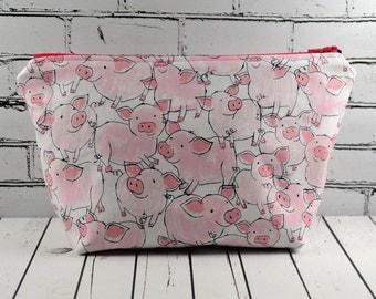 Pig Makeup Bag, Novelty Pig Zip Pouch