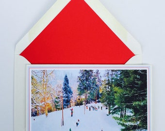 Let It Snow Christmas Cards Box of 8 with matching, lined envelopes.