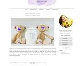 Premade Blogger Template - Simple Watercolor Blog Design - Blog Theme - Blog Layout - Blog Template