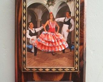 Vintage Key Holder - Vintage Key Rack - Vintage Key Hooks - Spanish Key Holder - Kitsch Key Holder - Flamenco - Dancers - Key Rack - Spain