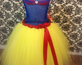 Snow White Inspired Tutu Dress-Tutu Dress-Children's Tutu Dress, Snow White, Snow White Costume, Snow White Halloween Tutu, Snow White Tutu