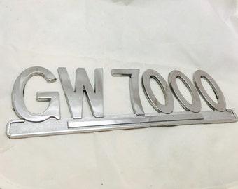 Vintage GW 7000 Chrome Emblem
