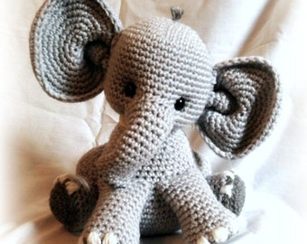 Percy the baby Elephant; CROCHET PATTERN; PDF
