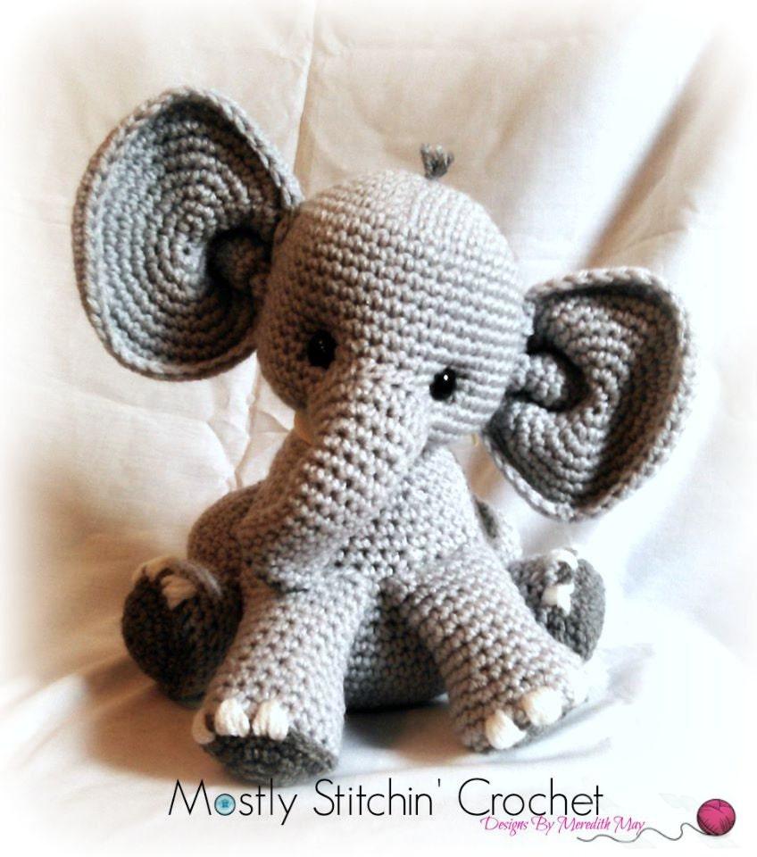 Amigurumi Elephant Blanket : Percy the baby Elephant CROCHET PATTERN PDF