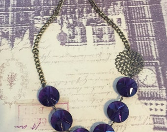 Pretty in Purple statement necklace