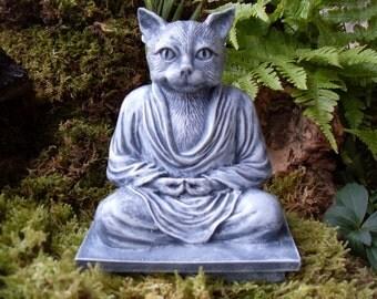 Buddha,Buddha Cat Statue,Meditating Cat Statue,Yoga Cat Statue,Buddha Statue,Zen Cat Statue,Bodhisattva Decor,Zen Garden Decor,Cement