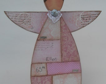 Wooden Vintage Angel