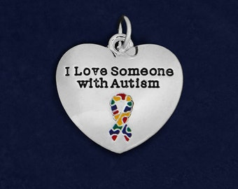25 I Love Someone With Autism Charms (25 Charms) (CHARM-97-2)