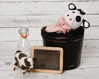 Newborn Cow Photo Prop Costume