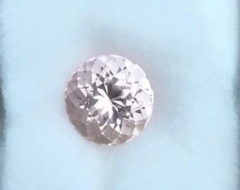 Round Morganite Stone, Loose Natural Morganite Stone, 9 Mm Round Shape Baby Pink Natural Morganite, Genuine Pink Morganite, 2.45 Carat