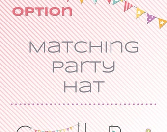 Matching printable party hat - matching decoration