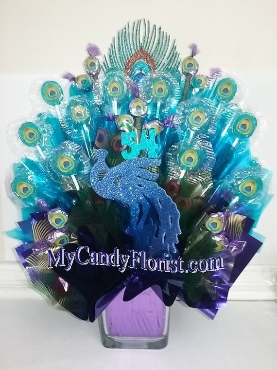 PEACOCK Centerpiece Candy Bouquet Exquisite For A Birthday