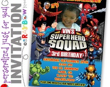 189-02: DIY - Super Heroes Party Invitation Or Thank You Card