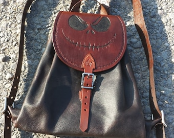 READY TO SHIP - Custom Leather Backpack