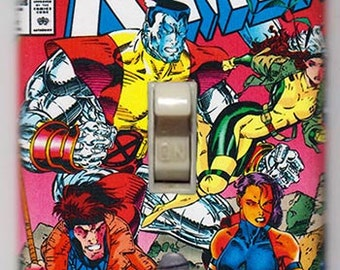 X-Men Light Switch Cover Plate - X-Men 1 Colossus Gambit Psylocke Rogue Marvel Comics FREE Shipping