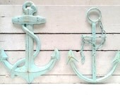 Anchor Decor, Nautical Decor, Anchor Wall Art, Nautical Anchor, Metal Anchor Nautical Decor, Blue Anchor, Custom Color, Nautical Wall Art