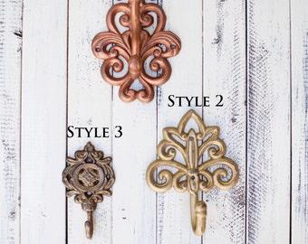 Wall Hooks Vintage Style, Coat Hook, Wall Hook, Wall Hooks, Rustic Home Decor, Vintage Hooks, Kitchen Hooks, Home Decor, Wall Hook Decor