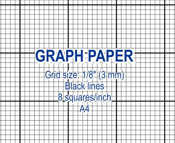 Graph Paper, Printable 3 Mm Grid, Cross Stitch Design, 8 Squares