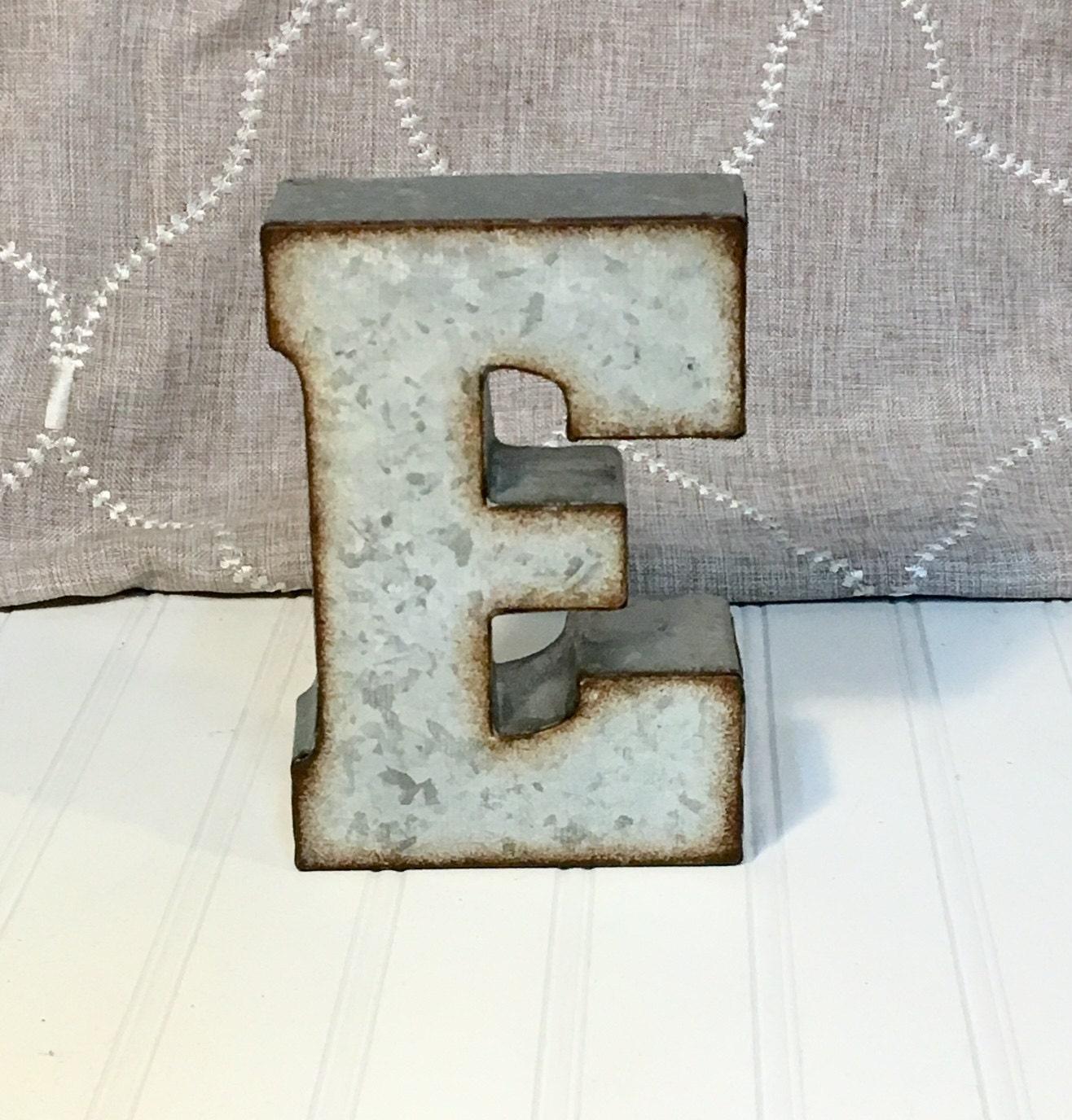 Metal Letters Metal Letter Letter E 7 Inch Letter Wall