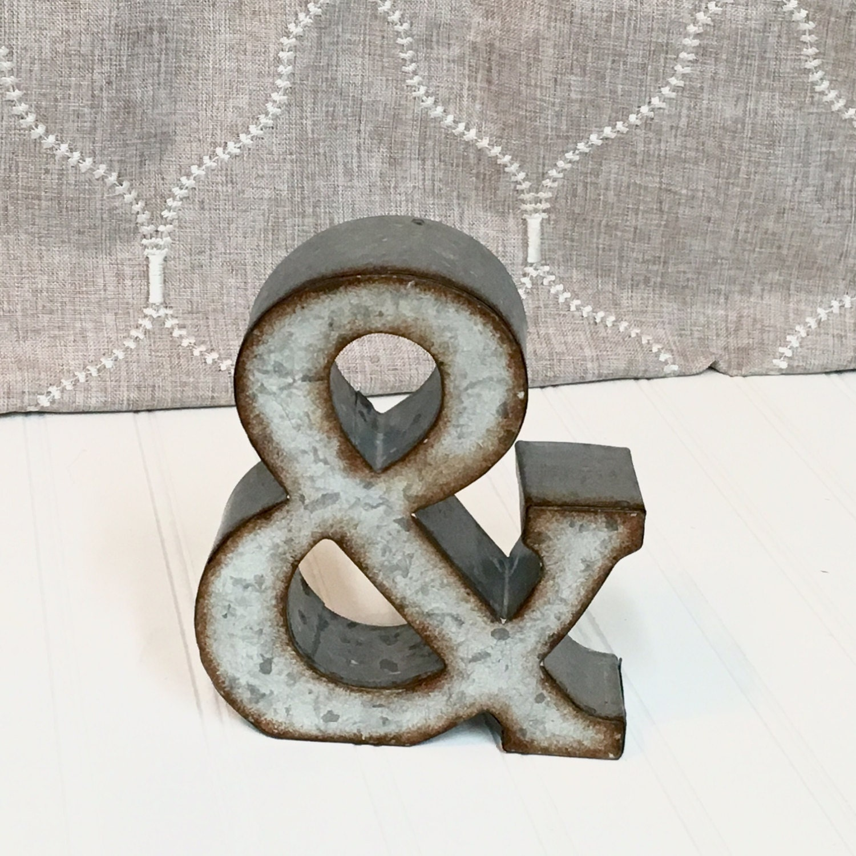 7 Inch Metal Letters Metal Lettersmetal Letterletter Ampersand7 Inch Letterwall