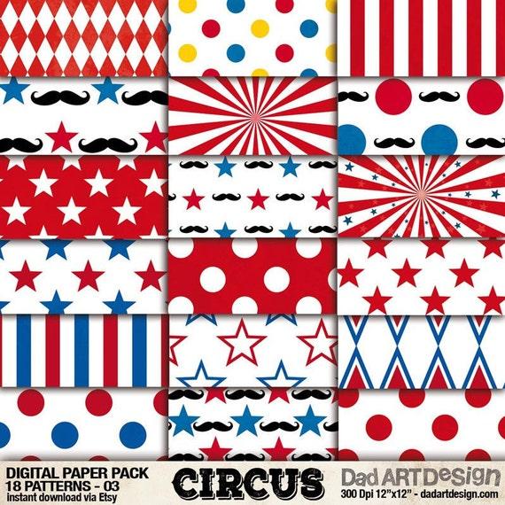 circus patterns printable - photo #13