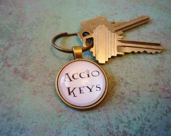 Harry Potter  Accio  Key Change - Magic Spell - Geeky Key Chain - Accio Keys