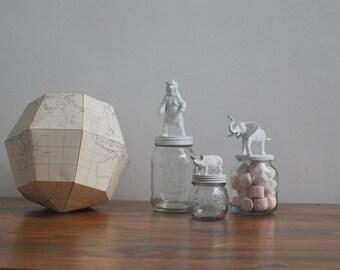 Pig glass jar