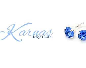 8MM Stud Earrings *Pick Your Color *Choose Your Finish *Karnas Design Studio Designer Inspired *Free Shipping