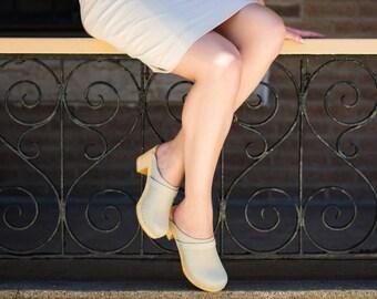 Sandal Clogs / Leather Sandals / Womens Slippers / Summer Shoes / Slippers / Handmade Clogs for Women / Sandgrens / Dublin
