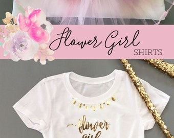 Flower Girl Shirt Flower Girl Gift Flower Girl Top Flower Girl Gift Ideas - (EB3161GRLW) FLOWER GIRL SHIRT