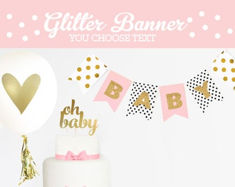 Personalized Baby Banner - Oh Baby Banner - Custom Baby Shower Banner- Sweet Baby Shower Banner Decorations Welcome Baby Banner (EB3062)