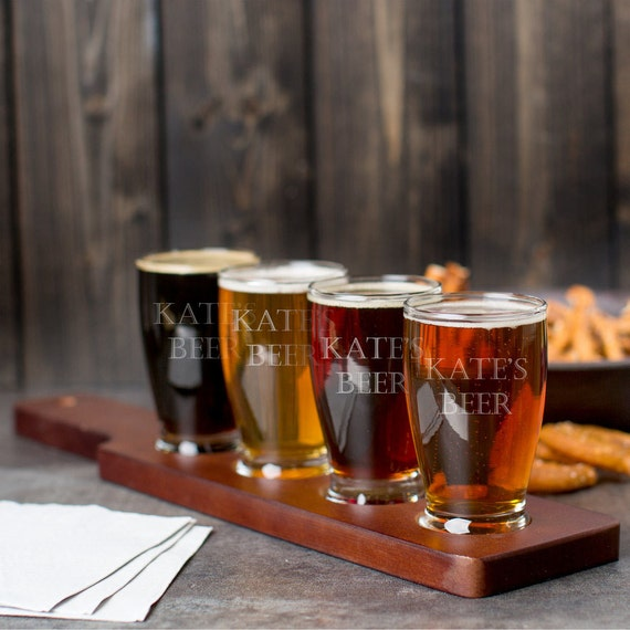 Personalized, Engraved Beer Flight - Now, this is awesome. For the man (or wo-man) that is ready to try 'em all.