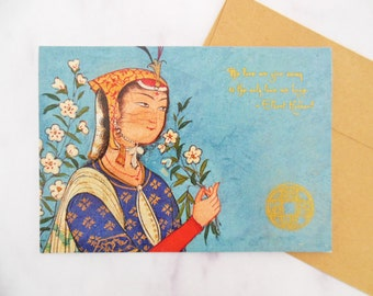 the love we give away card | ink embossed 5x7 greeting card | sympathy card, romantic card | blank inside