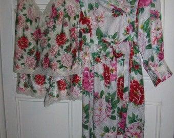 Sleep Set Small, Gown Small,  Victoria Secret Three Piece Honeymoon Lingerie Sleep Set.  Size P S