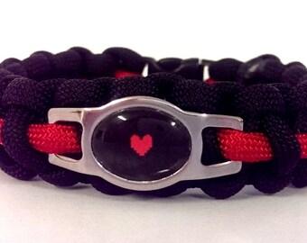 Undertale Inspired Paracord Bracelet