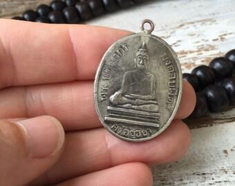 Thai Buddha Amulet / Round Buddha Amulet / Amulet Pendant / Thai Amulet / Amulet / Buddhist Amulet