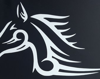 Tribal Horse Decal,Horse Decal,Equine