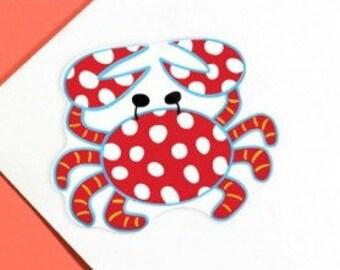Coton Colors Polka Dotted Crab Monogram Attachment