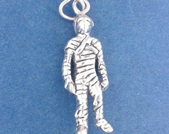 MUMMY Charm .925 Sterling Silver HALLOWEEN Monster, Zombie Pendant - lp3050