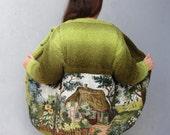 Woodland Mori Mädchen Jacke, Märchen Bauernhaus, Plus Größe Kleidung Vintage Gobelin Gobelin Stoff Kleidung US Größe 12 / 14 EU-Größe 42 / 44
